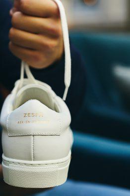 test baskets Zespà Aix-en-provence ZSP4 HGH WHT talon