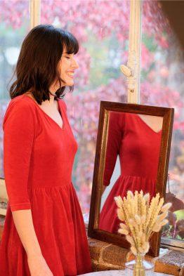 Robe Rouge Atelier Unes