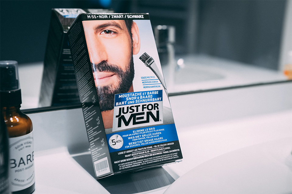 coloration pour barbe just for men test avis packaging