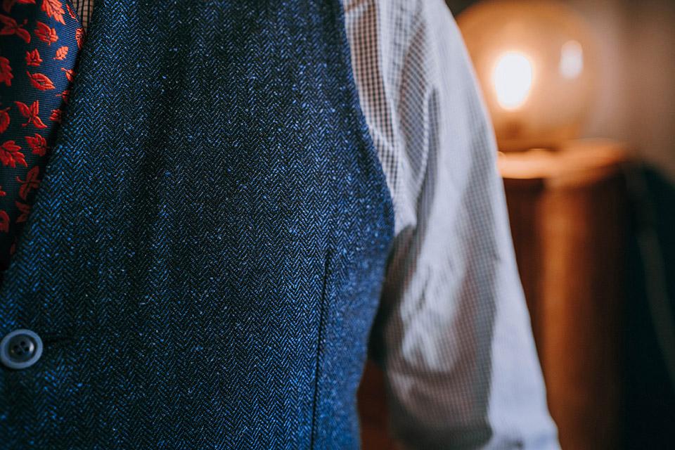Gilet costume tweed hiver homme