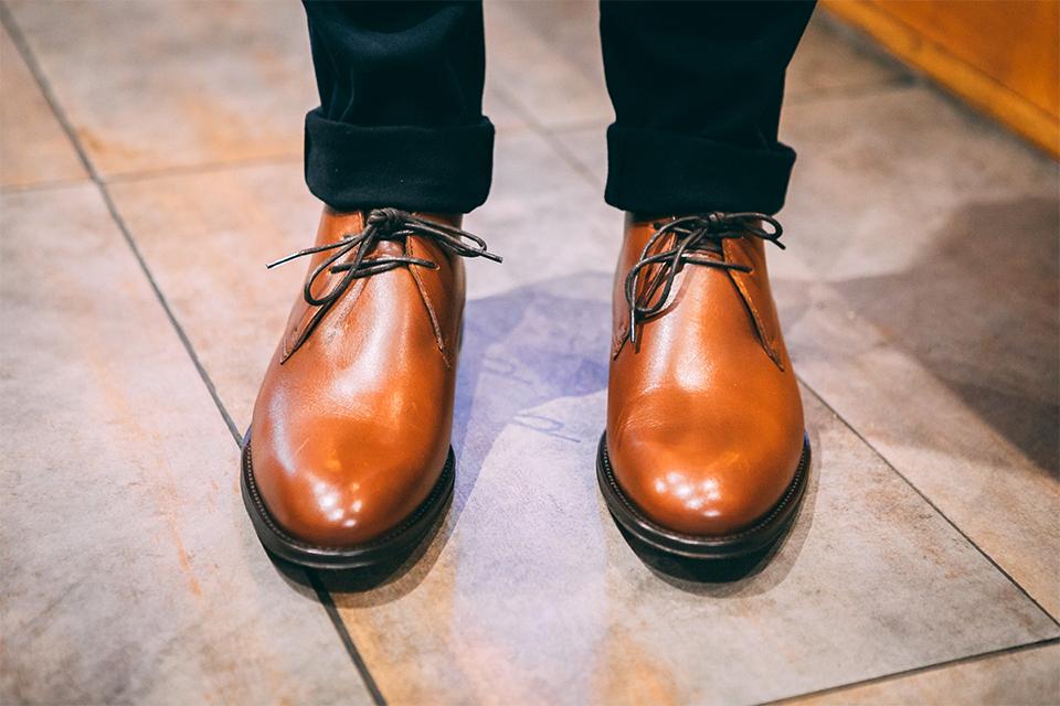 Cuir Chukka Boots