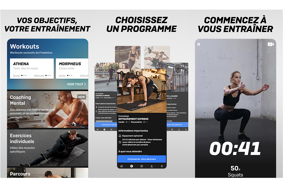 visuel application freeletics 2020