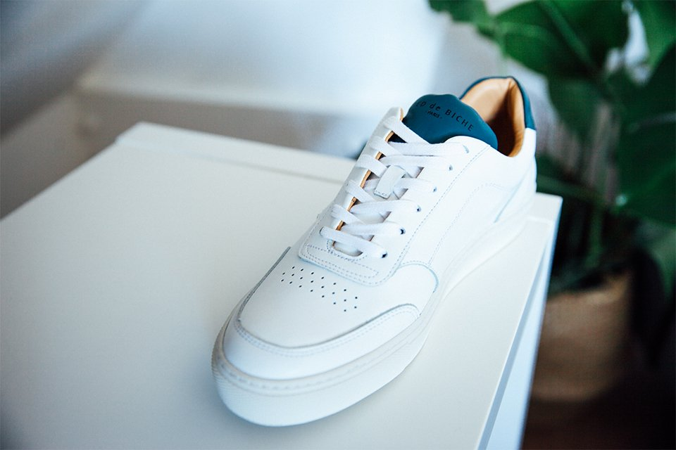 Sneakers Blanc Bleu