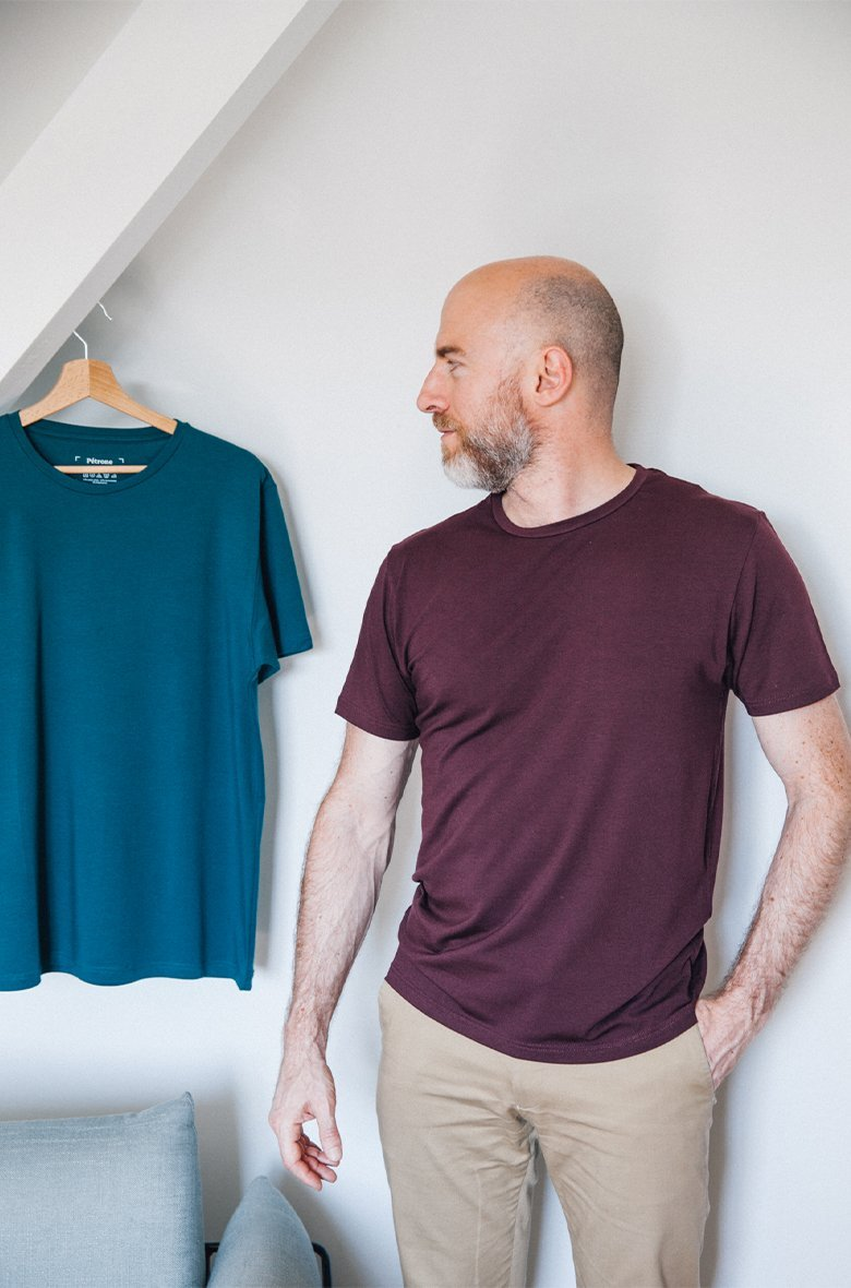 T-Shirt Bleu Pétrole