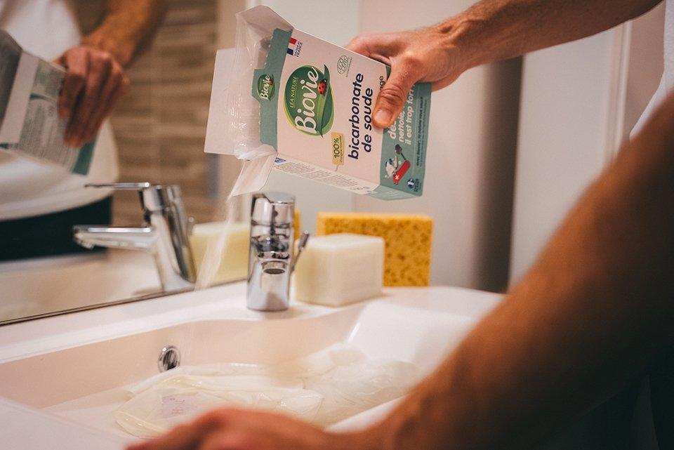 bicarbonate soude savon