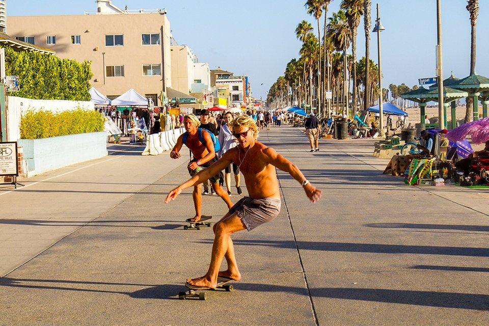 Skateboard Plage