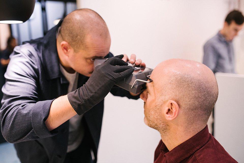 Carlotti Test position des yeux