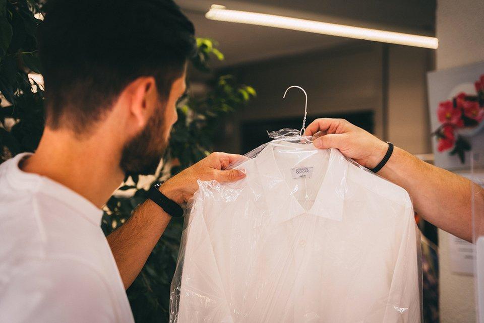 chemise lavage pressing