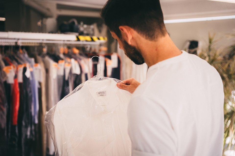 chemise propre pressing