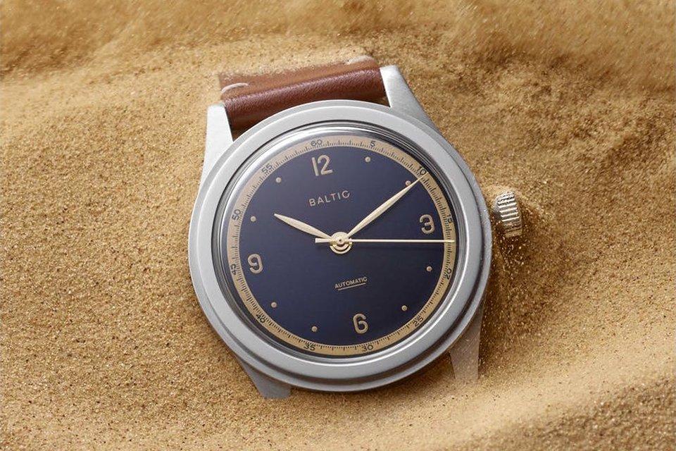 Montre Baltic hms 001 bleue