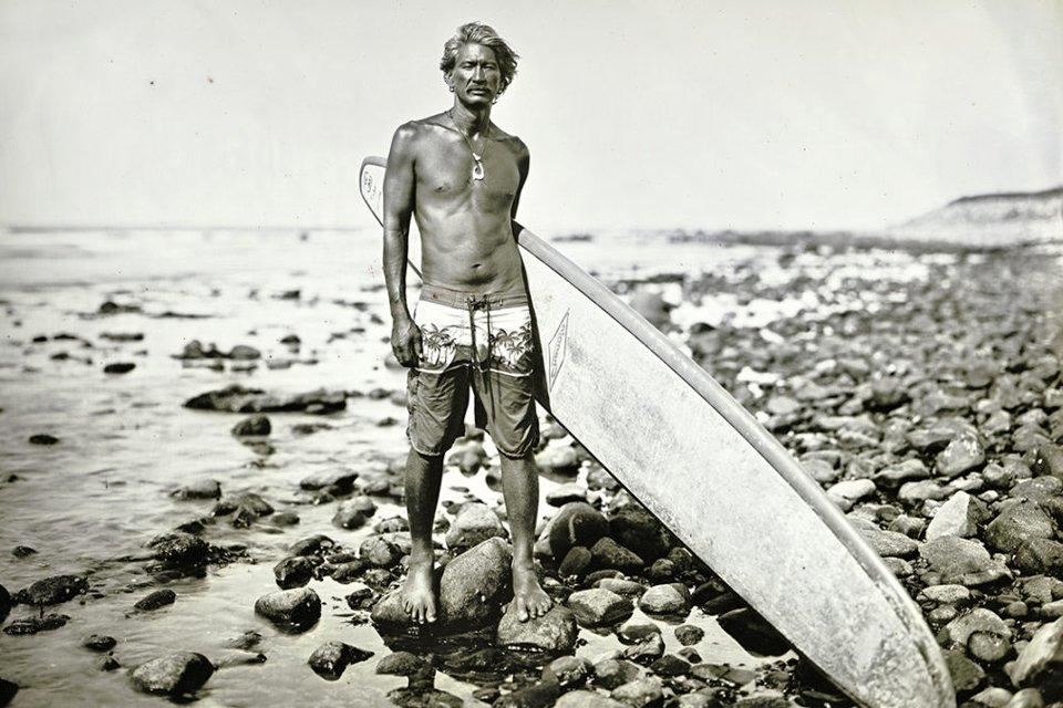 Surfer Hawaii Années 50