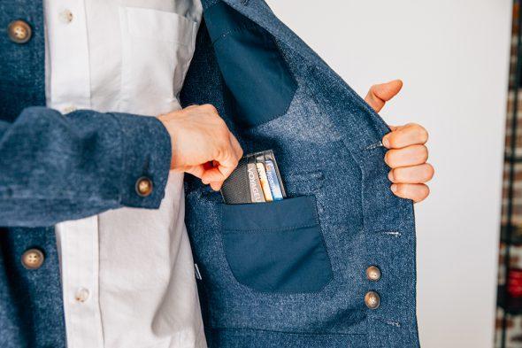 veste travail hast interieur poche gauche porte cartes