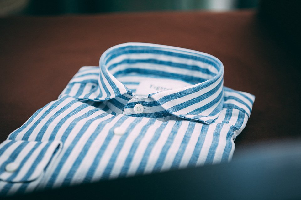 Chemise Figaret lin col
