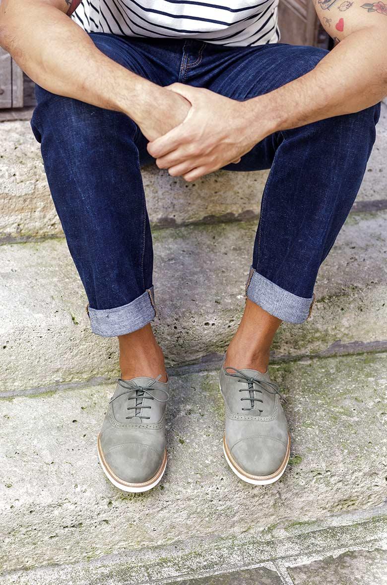 Chaussures Nubuck Homme Vert