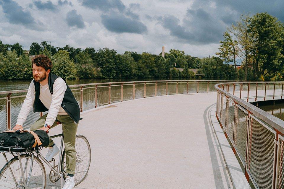 Look homme vélo urbain