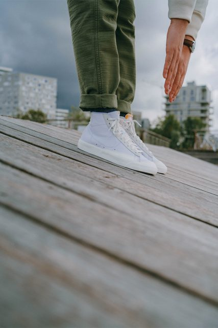 Nike bazer 77 mid blanches