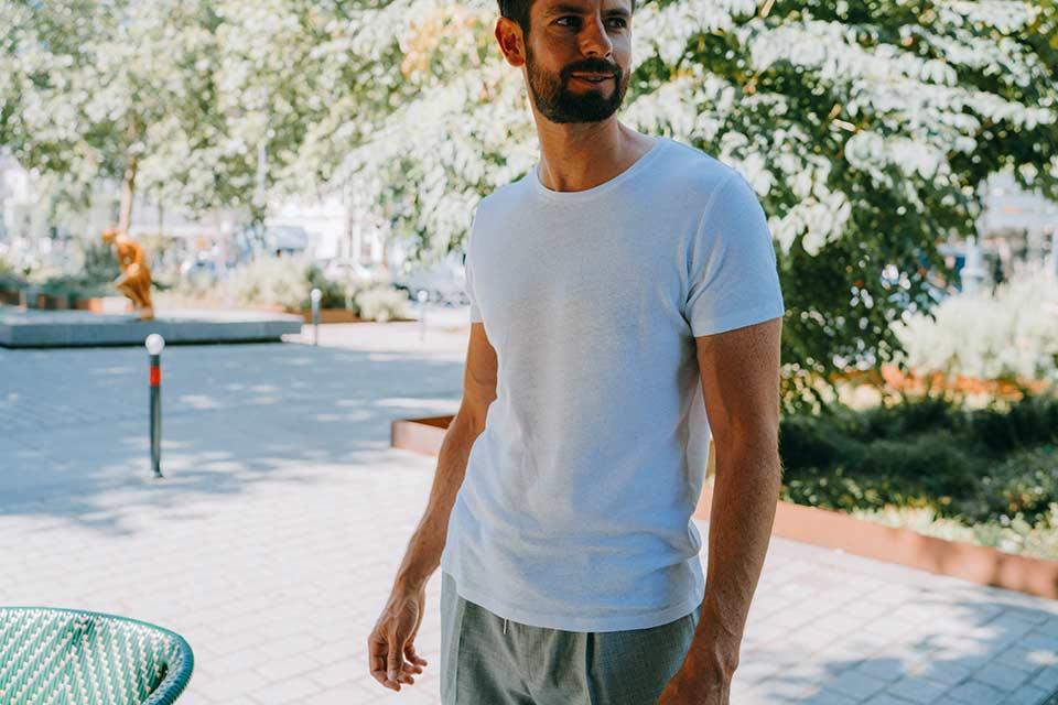 T-Shirt Lin Coton Homme