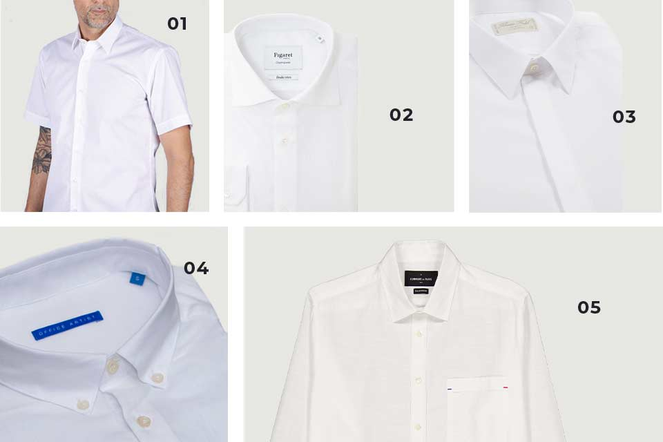 Chemises Blanches Soldes Homme