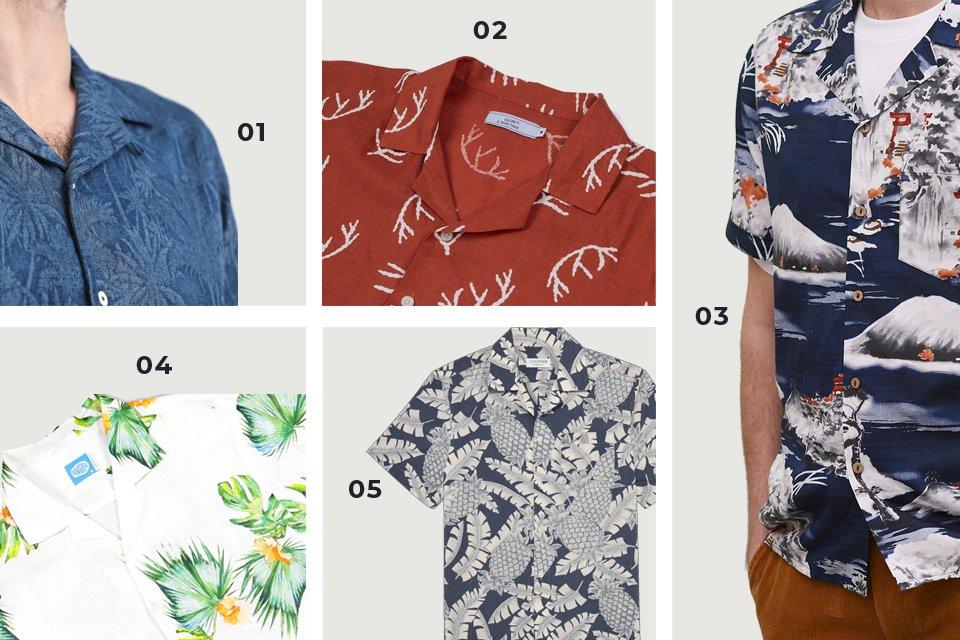 chemises manches courtes fleuries 1