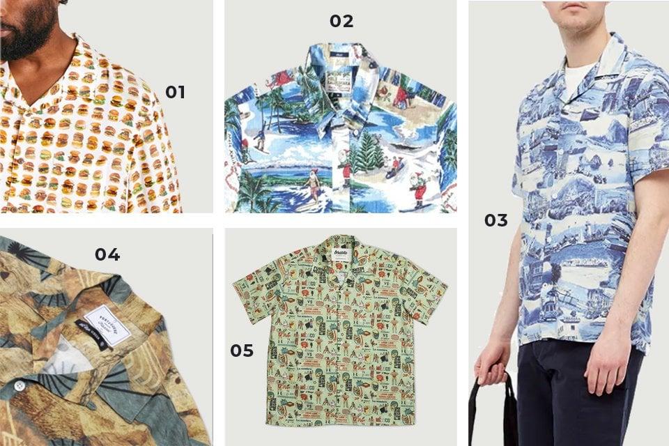 chemises manches courtes motifs 3