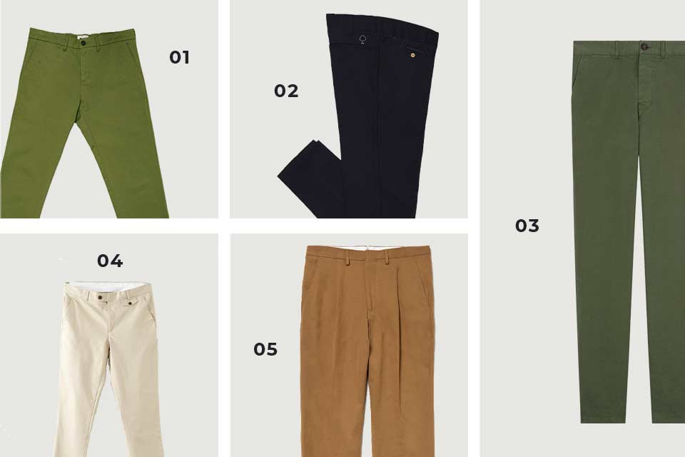 chinos homme soldes SS20