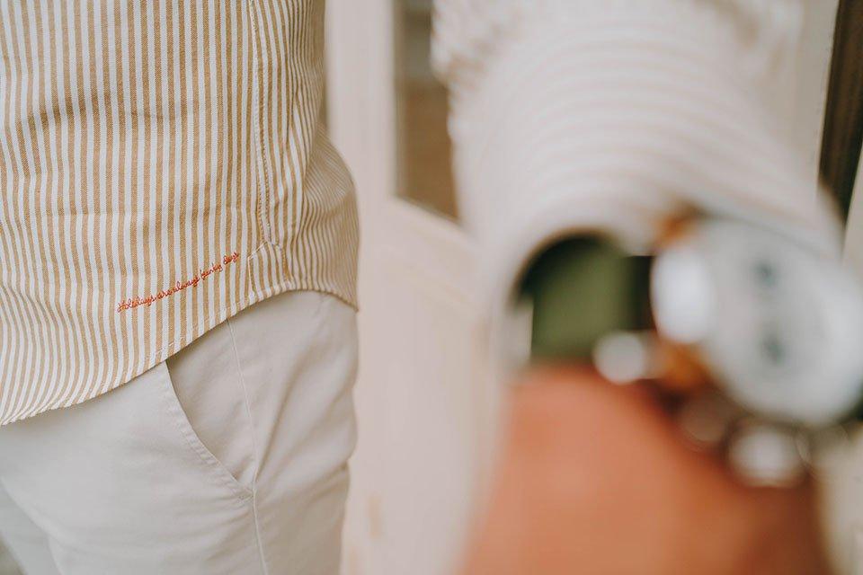 details chemise col officier jaqk look max breizh riviera