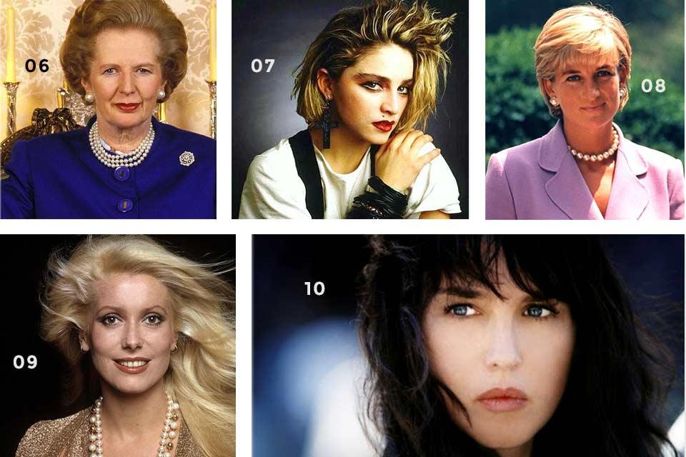 Femmes Célèbres Années 80