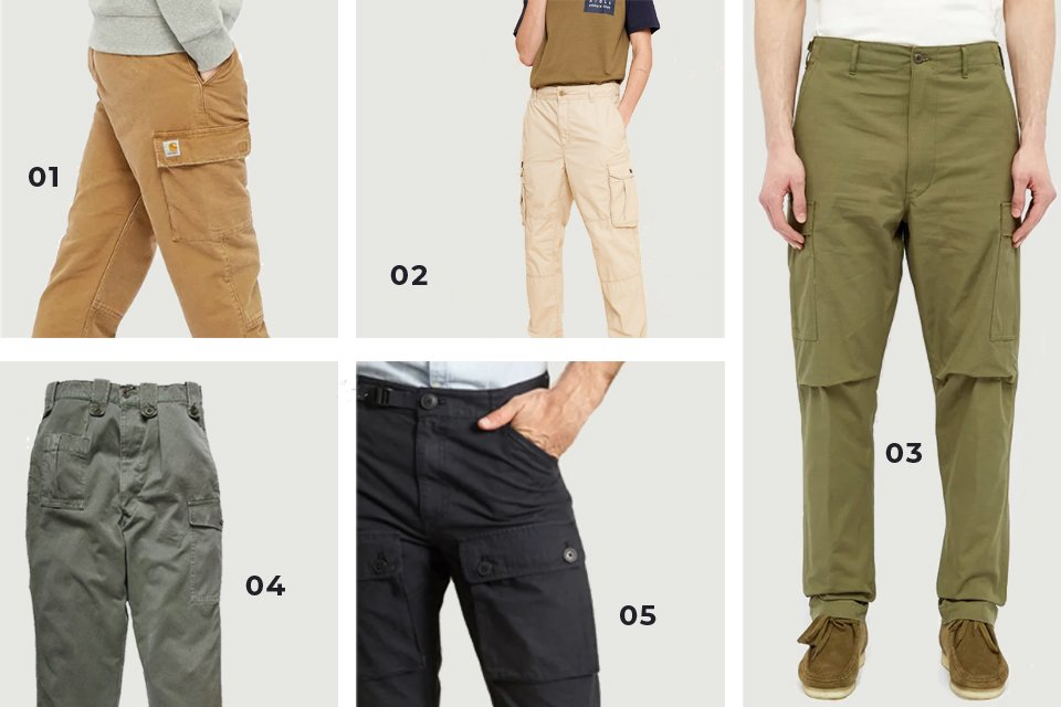 pantalons cargo homme soldes SS20