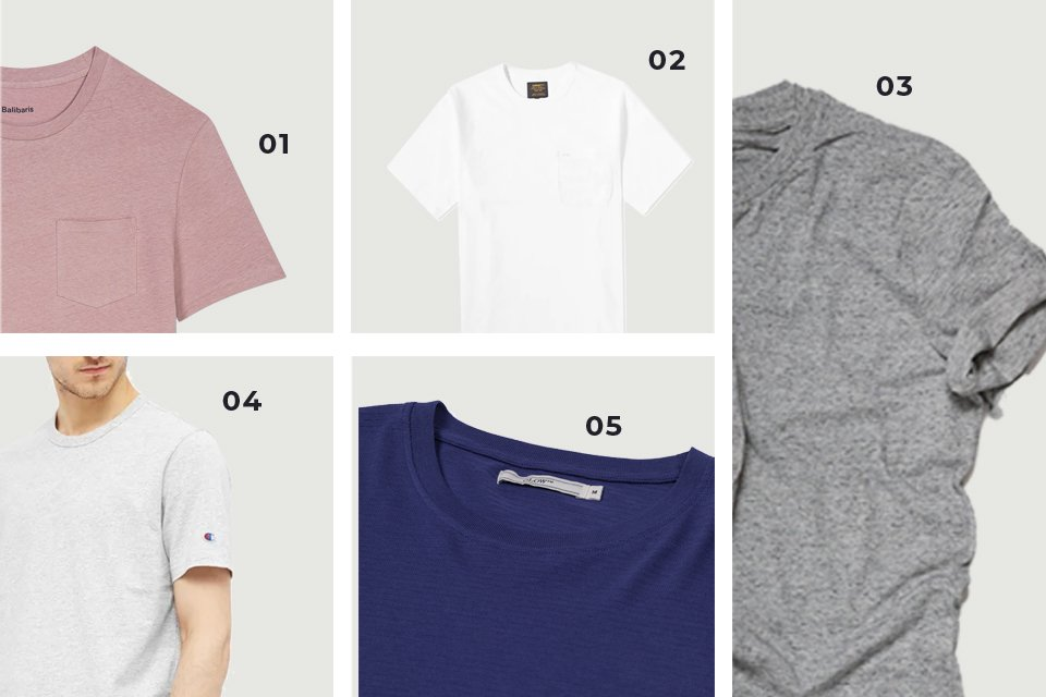 Soldes SS20 t-shirts unis homme