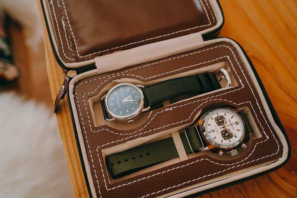sacoche voyages montres
