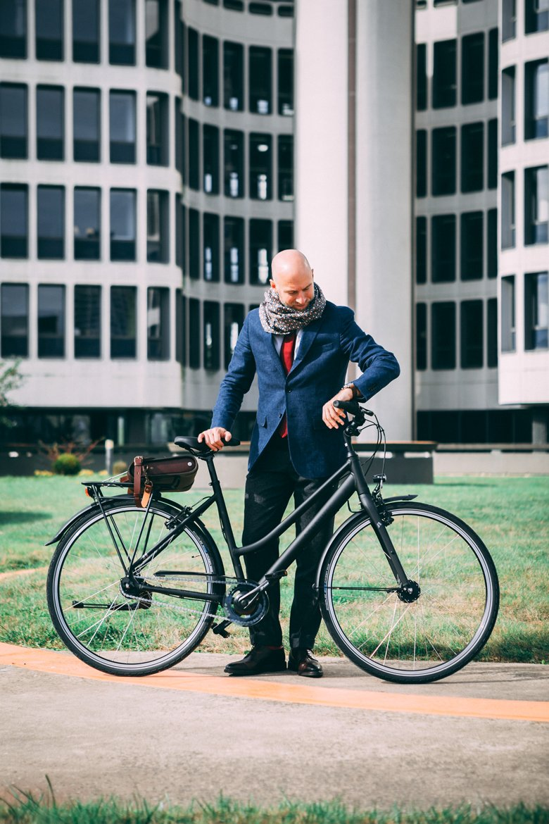 look vélo homme travail
