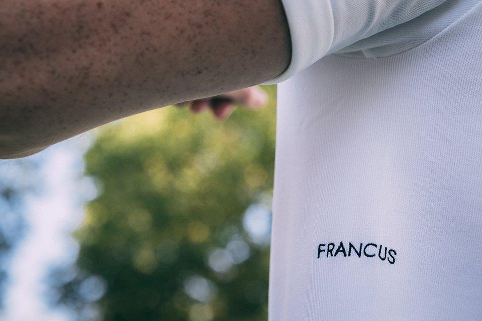 t-shirt sport eco responsables francus test avis logo brode