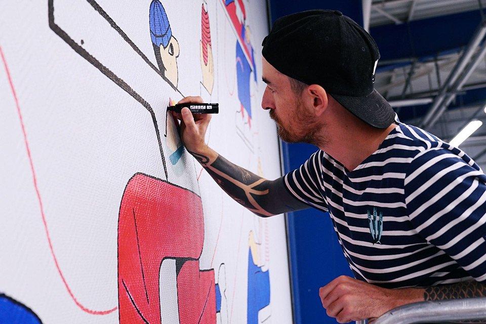 artiste fresque olow saint-james