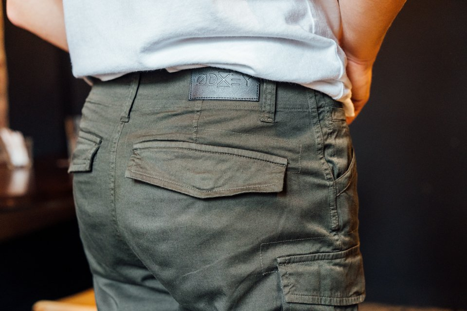 Cargo odxey detail patch cuir