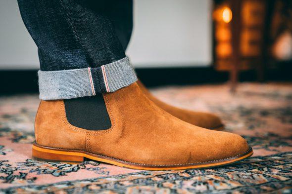 Jean brut chelsea boots