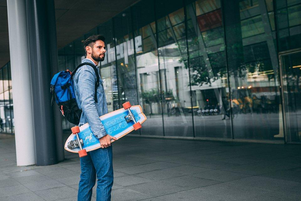 look homme surf skate jean