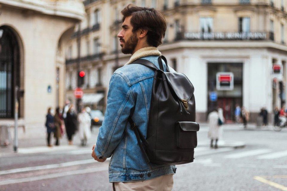 Pachamama sac à dos cuir noir homme