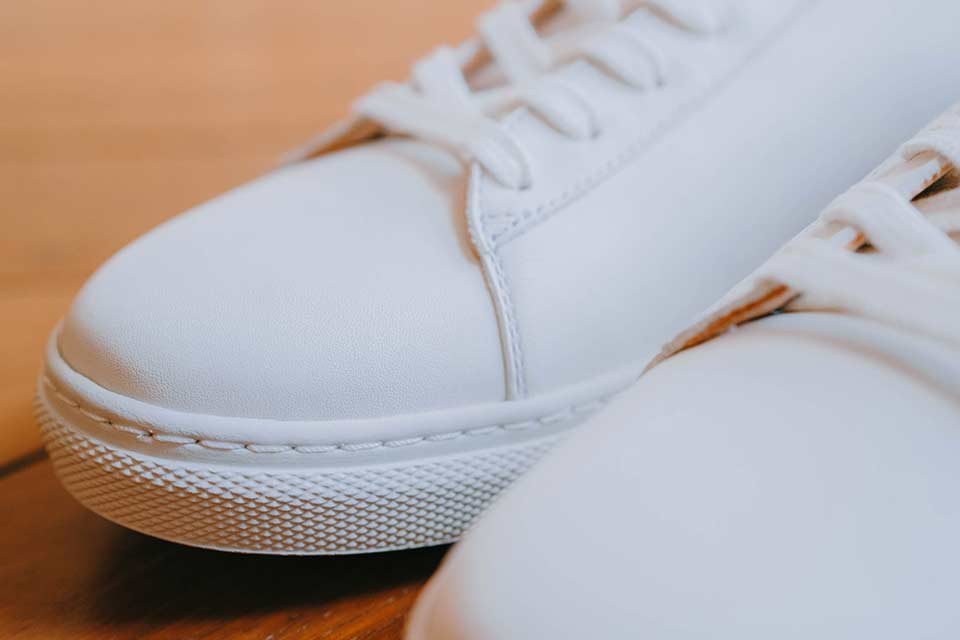 Cuir Sneakers Blanches