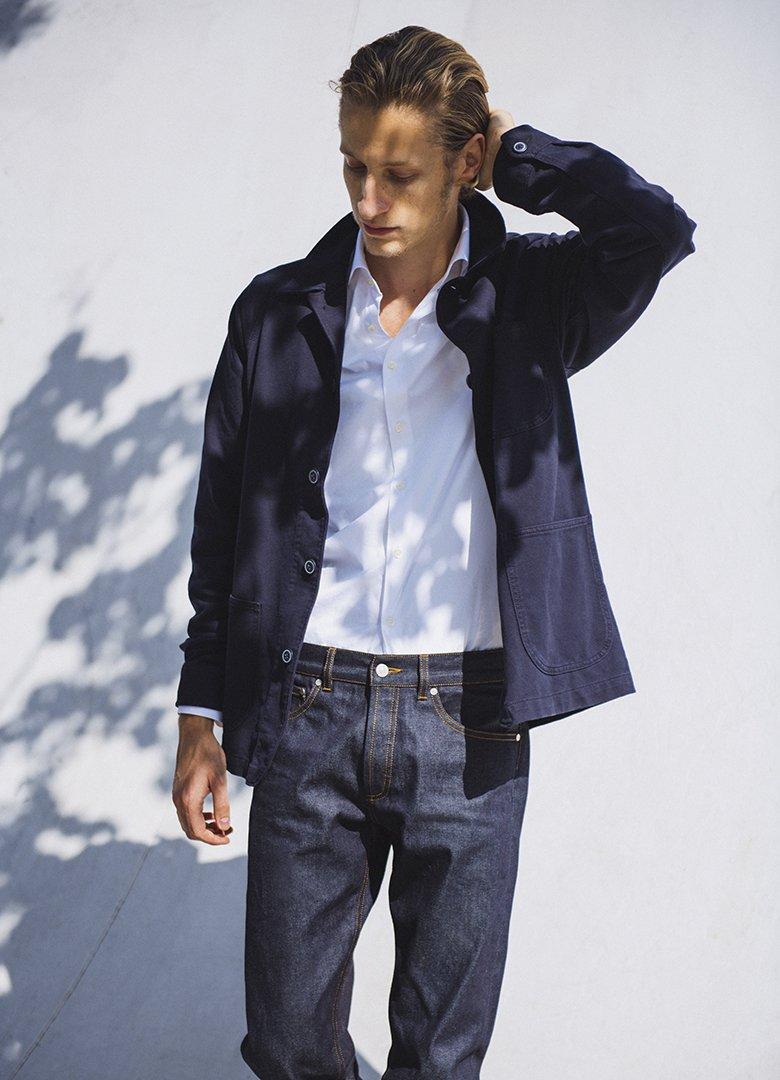 toile d'avion chemise homme jeans