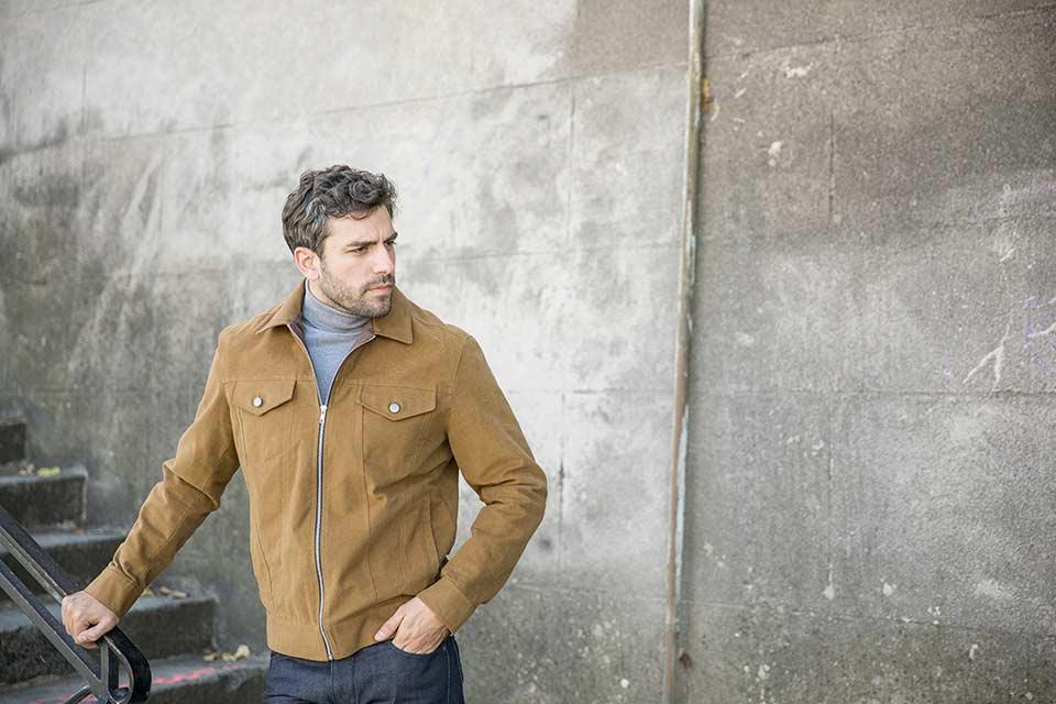 Trucker Jacket Coton Homme