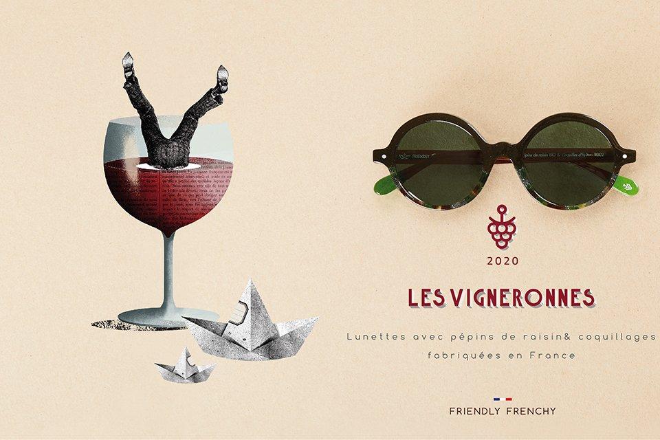 Lunettes Vigneronnes Friendly Frenchy affiche 1