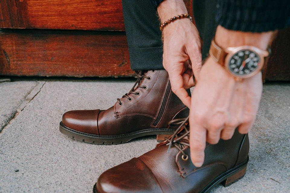 Boots cuir graine jules jenn