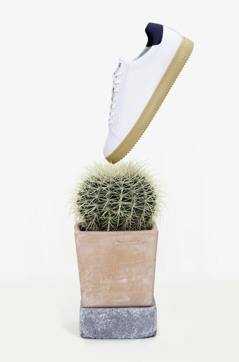 clae basket cuir cactus blanche