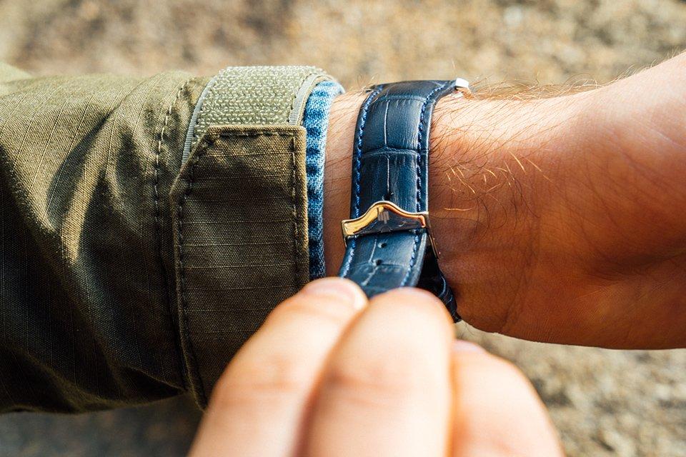montre Lip Himalaya Squelette bracelet-bleu