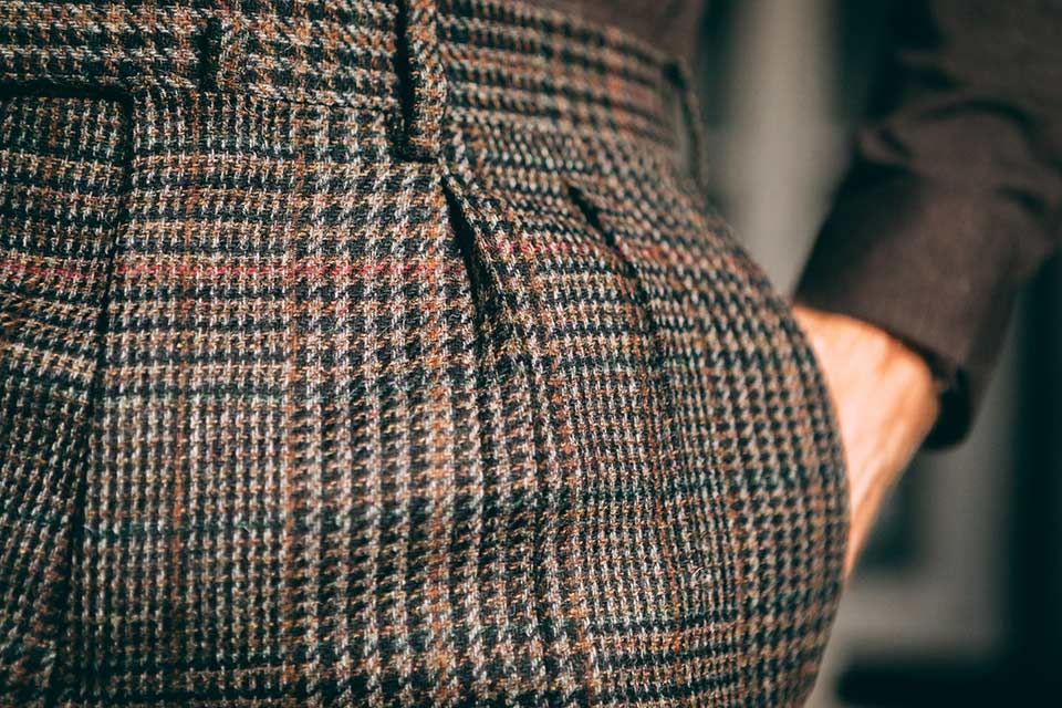 Pantalon Pinces Tweed