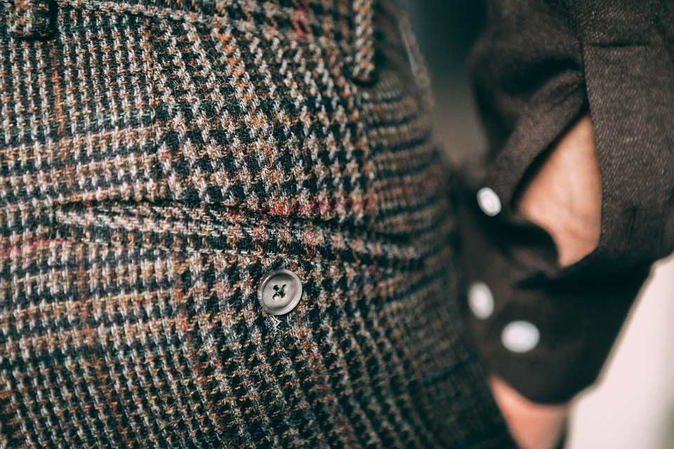 poche Passepoilee Tweed