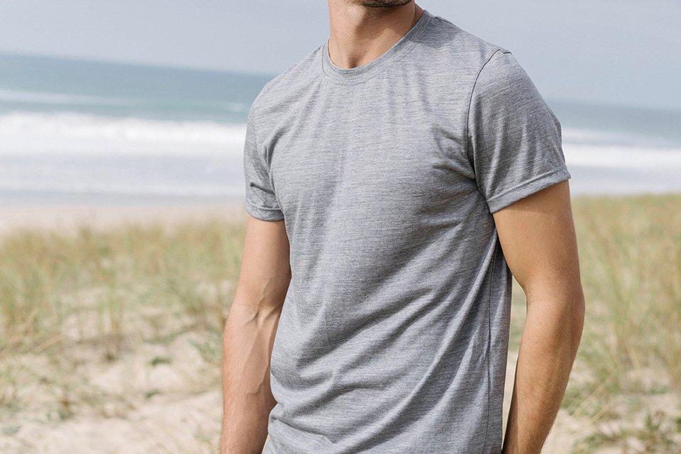 t-shirt laine merinos beni