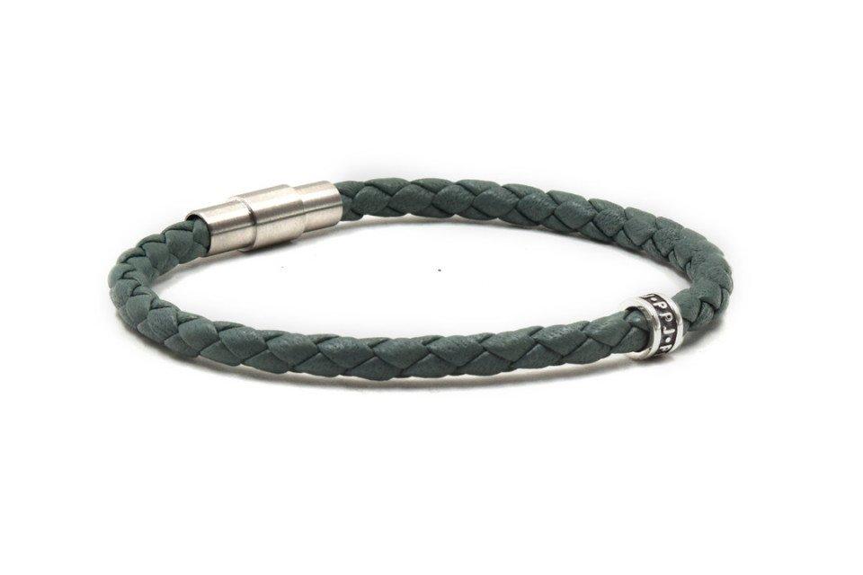 Bracelet cuir vert Pierre Paul Jacques