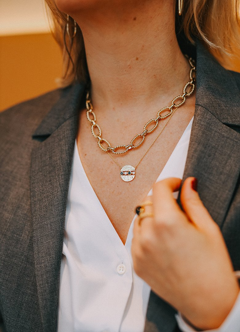 Look Paris Brest Melanie portrait colliers