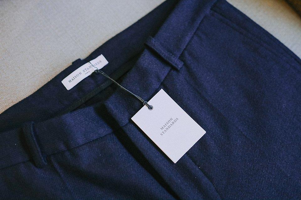 Pantalon bleu maisonstandards marque